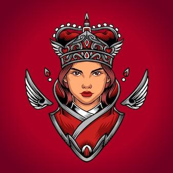 Logotipo del corazón de la reina
