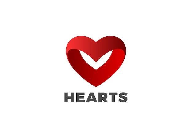 Logotipo de corazón rojo.