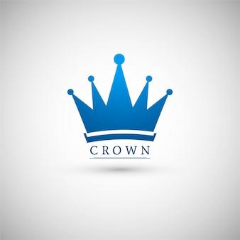 Logotipo de corona azul