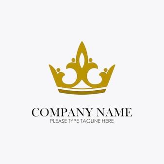 Logotipo de la corona para la empresa de joyería
