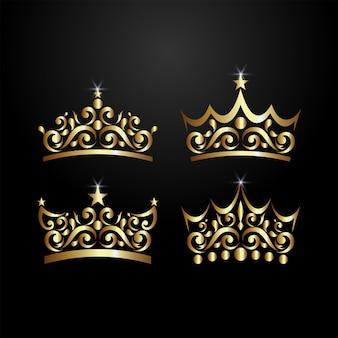 Logotipo de la corona de lujo