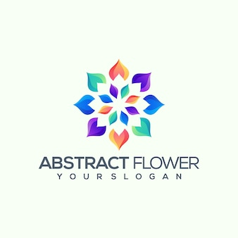 Logotipo corporativo de flores
