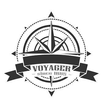 Logotipo corporativo con windrose