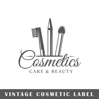 Logotipo cosmético aislado en blanco