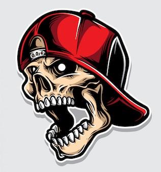 Logotipo de cráneo hardcore