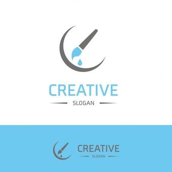 Logotipo creatividad con un pincel