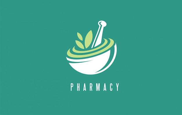 Logotipo creativo de atención médica de farmacia médica