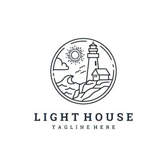 Logotipo creativo de la casa de la luz