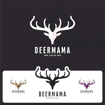 Logotipo creativo de ciervos