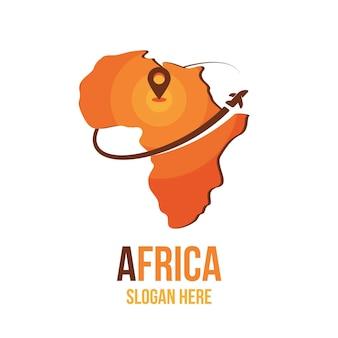 Logotipo creativo del mapa de áfrica