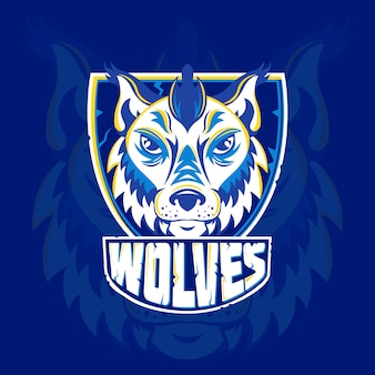 Logotipo creativo de la mascota de wold