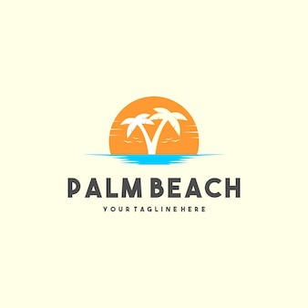 Logotipo creativo de palm beach