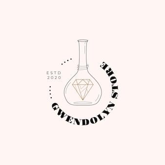 Logotipo de cristal mágico