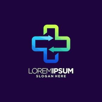 Logotipo cruzado de atención médica