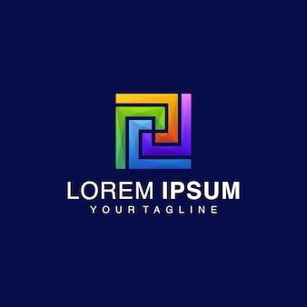 Logotipo cuadrado gradiente