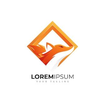 Logotipo cuadrado de zorro