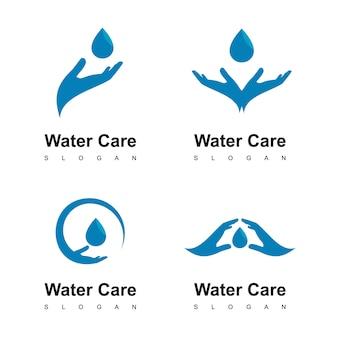 Logotipo de cuidado del agua