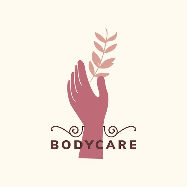Logotipo de cuidado corporal orgánico natural.