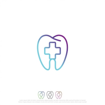 Logotipo de cuidado dental