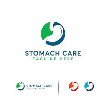 Logotipo de cuidado del estómago