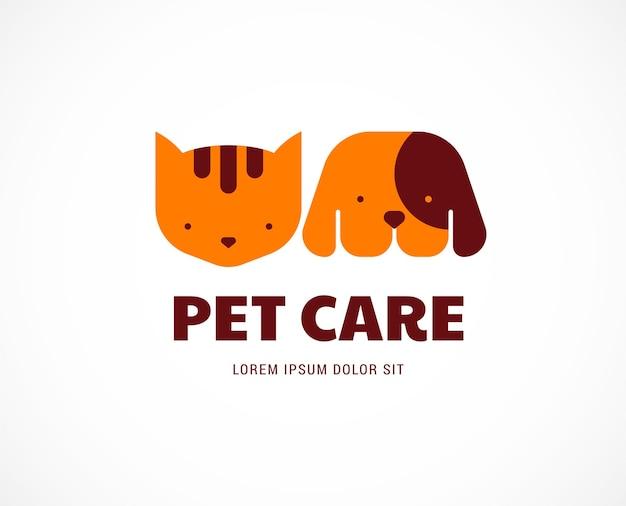 Logotipo de cuidado de mascotas