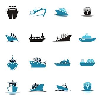 Logotipo de barco de mar