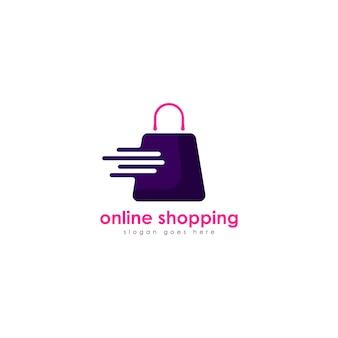 Logotipo de compras en línea