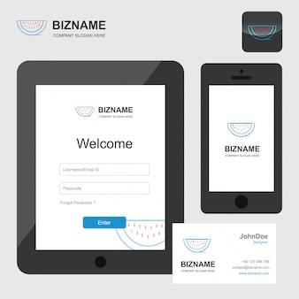 Logotipo de empresa de fruta y diseño de la aplicación web