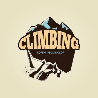Logotipo de escalada vintage mountane