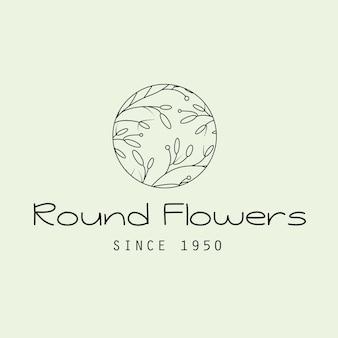 Logotipo de flor de círculo femenino