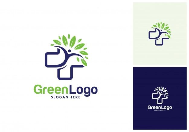 Logotipo de gente de árbol de salud y plantilla de icono
