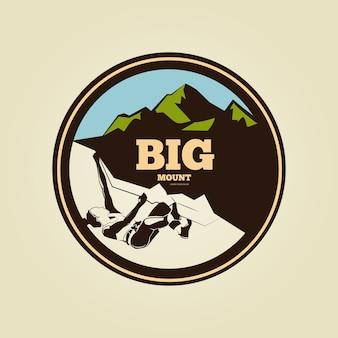 Logotipo de la vendimia de escalada redonda