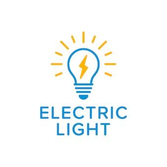 Logotipo de luz eléctrica