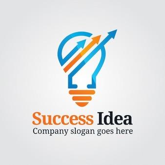 Logotipo de marketing con bombilla