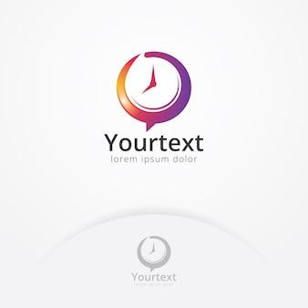 Logotipo de vector de consulta de gestión de tiempo