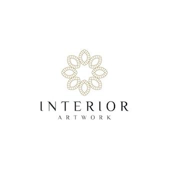 Logotipo de decoración interior del hogar