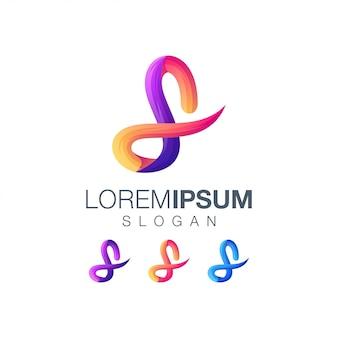 Logotipo degradado abstracto letra l