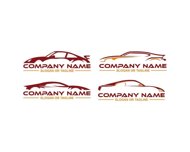 Logotipo del coche en línea limpia y simple gráfico diseñado