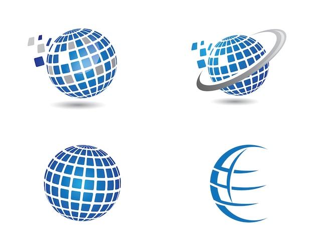 Logotipo del mundo templat