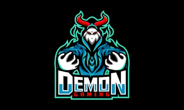 Logotipo de demon gaming esports