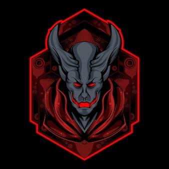 Logotipo de demonio rojo