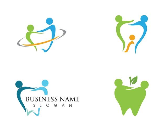 Logotipo dental, plantilla, vector