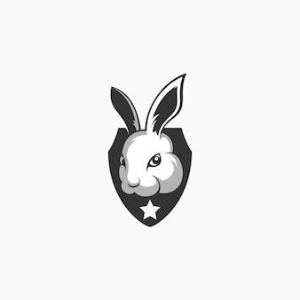 Logotipo de deporte electrónico de conejo