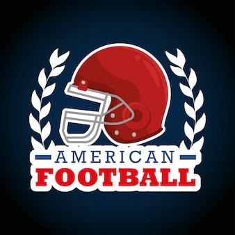 Logotipo de deporte de fútbol americano
