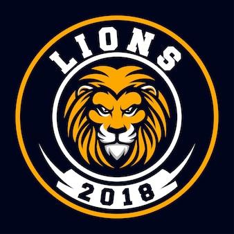 Logotipo de deporte león