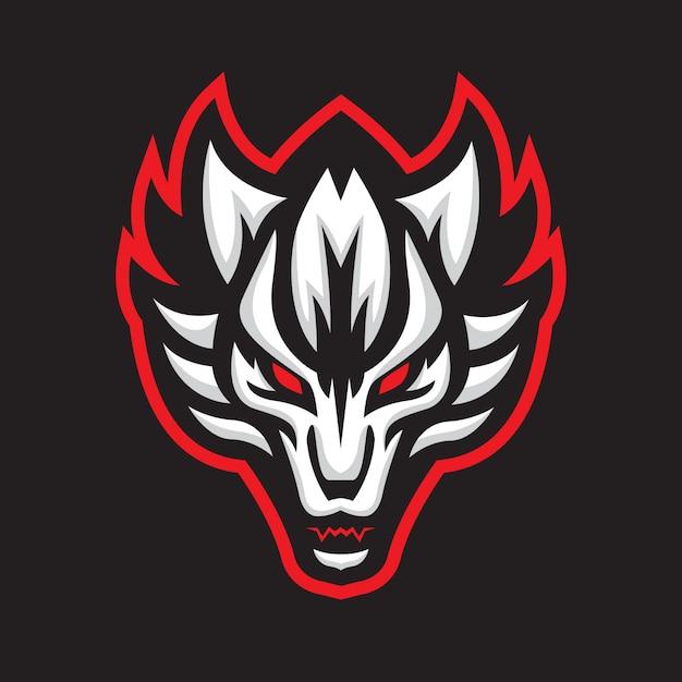 Logotipo del deporte lobo