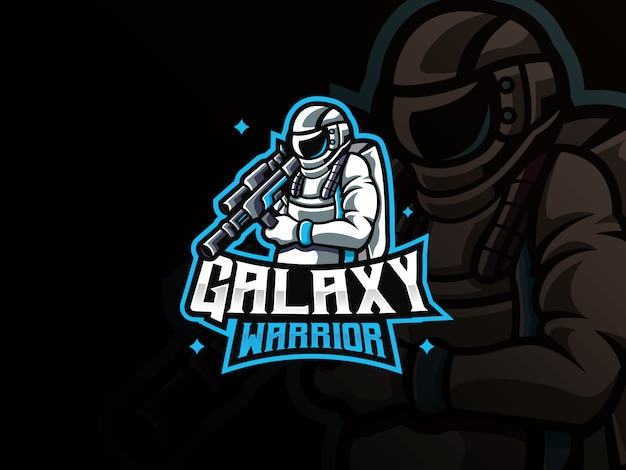 Logotipo del deporte mascota de astronauta