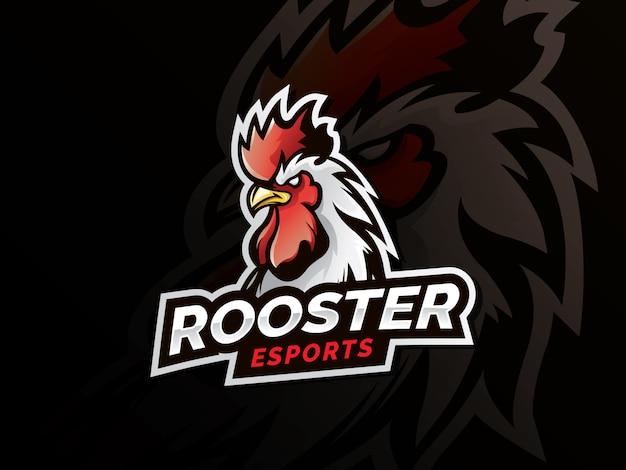 Logotipo del deporte mascota gallo