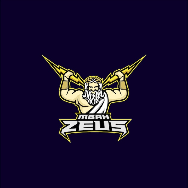 Logotipo del deporte zeus god