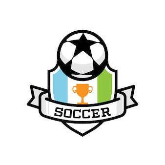 Logotipo de deportes de fútbol